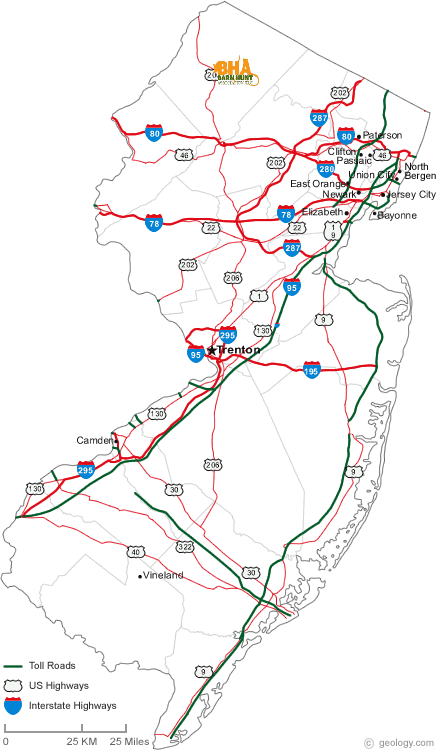 Event map for NJ